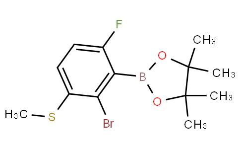2-Bromo-6-fluoro-3-(methylthio)phenylboronic acid pinacol ester