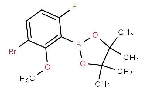 3-Bromo-6-fluoro-2-methoxyphenylboronic acid pinacol ester