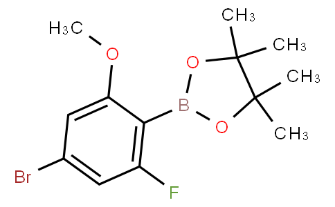4-Bromo-2-fluoro-6-methoxyphenylboronic acid pinacol ester
