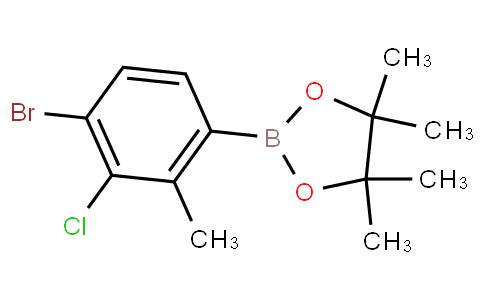 4-Bromo-3-chloro-2-methylphenylboronic acid pinacol ester