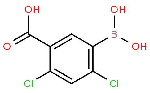 5-Carboxy-2,4-dichlorophenylboronic acid