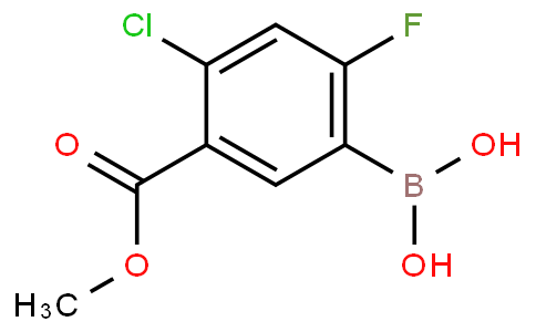 4-Chloro-2-fluoro-5-methoxycarbonylphenylboronic acid