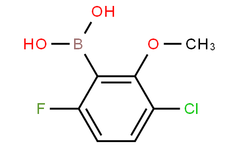 3-Chloro-6-fluoro-2-methoxyphenylboronic acid