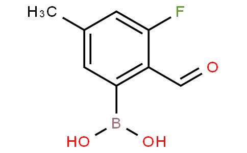 3-Fluoro-2-formyl-5-methylphenylboronic acid
