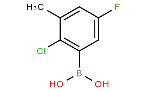 2-Chloro-5-fluoro-3-methylphenylboronic acid