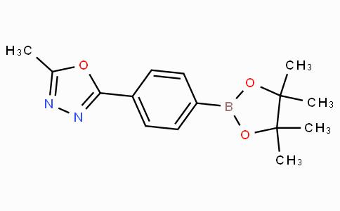 2-Methyl-5-[4-(4,4,5,5-tetramethyl-1,3,2-dioxaborolan-2-yl)phenyl]-1,3,4-oxadiazole