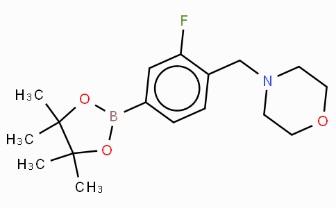 3-Fluoro-4-(N-morpholinomethyl)phenylboronic acid, pinacol ester