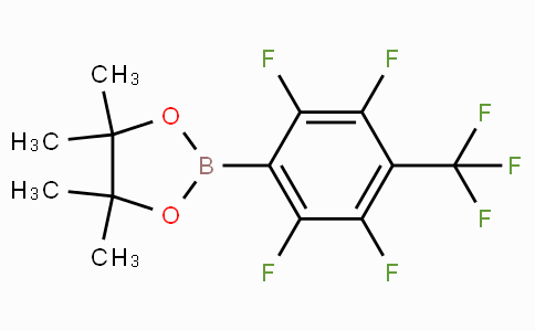 4,4,5,5-Tetramethyl-2-(2,3,5,6-tetrafluoro-4-(trifluoromethyl)phenyl)-1,3,2-dioxaborolane