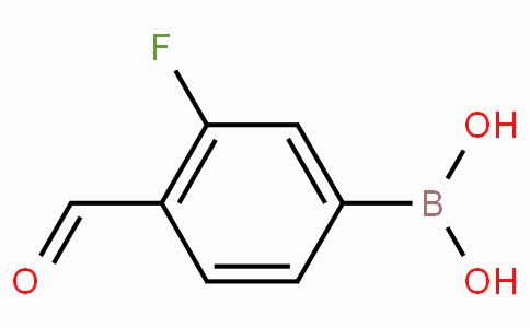 3-氟-4-甲酸基苯硼酸