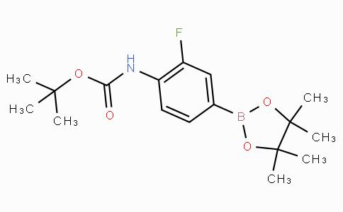 2-氟-4-(4,4,5,5-四甲基-1,3,2-二氧代硼戊烷-2-基)苯基氨基甲酸叔丁酯