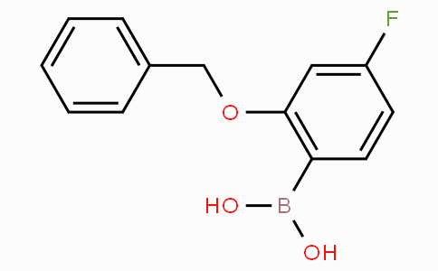 2-Benzyloxy-4-fluorophenylboronic acid