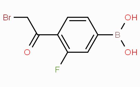 4-Bromoacetyl-3-fluorophenylboronic acid