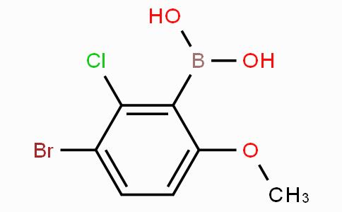 3-Bromo-2-chloro-6-methoxyphenylboronic acid
