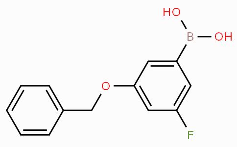 3-苄氧基-5-氟苯硼酸