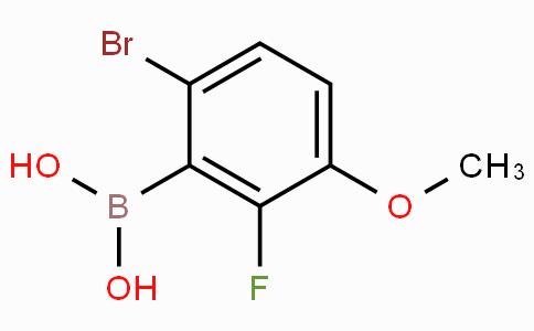 6-溴-2-氟-3-甲氧基苯硼酸