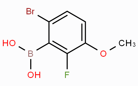 6-Bromo-2-fluoro-3-methoxybenzeneboronic acid