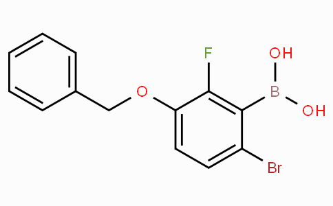 3-(Benzyloxy)-6-bromo-2-fluorophenylboronic acid