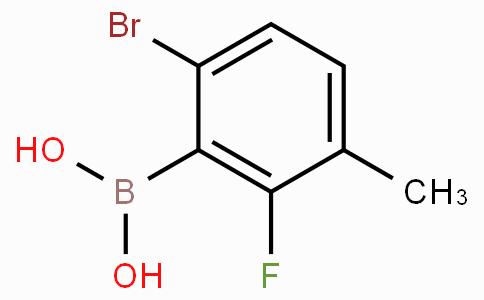 6-Bromo-2-fluoro-3-methylphenylboronic acid