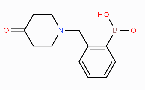 (2-[(4-Oxopiperidin-1-yl)methyl]phenyl)boronic acid