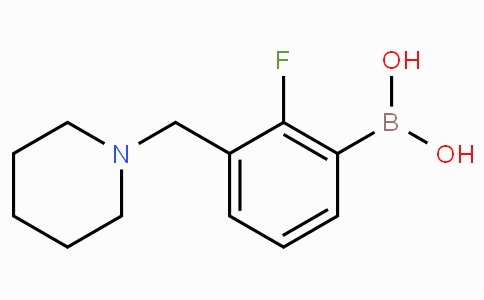 2-Fluoro-3-(piperidin-1-ylmethyl)phenylboronic acid