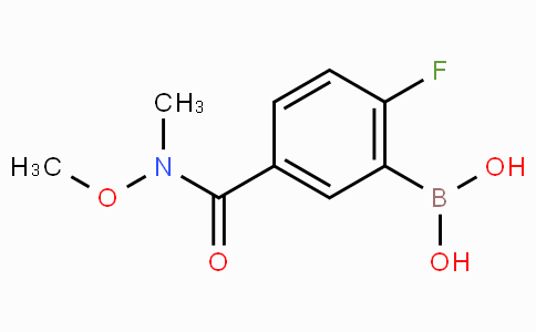 2-Fluoro-5-(methoxy(methyl)carbamoyl)phenylboronic acid
