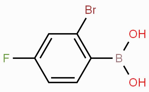 2-Bromo-4-fluorophenylboronic acid