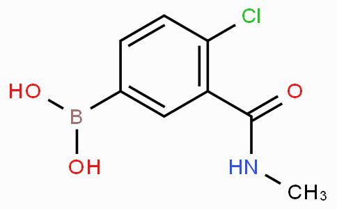 4-Chloro-3-(N-methylcarbamoyl)phenylboronic acid