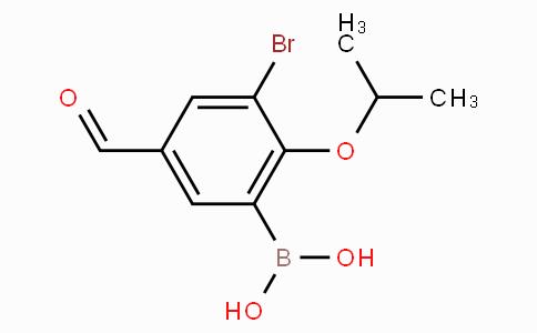 3-Bromo-2-isopropoxy-5-formylphenylboronic acid