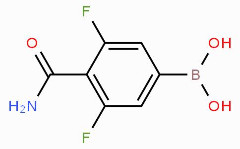 4-(Aminocarbonyl)-3,5-difluorophenylboronic acid