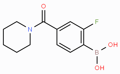 2-Fluoro-4-(piperidine-1-carbonyl)phenylboronic acid