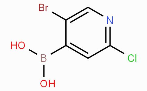 5-Bromo-2-chloropyridine-4-boronic acid
