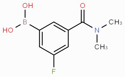 5-(二甲基氨甲酰基)-3-氟苯基硼酸
