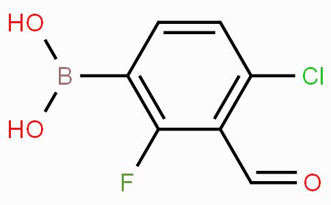 4-氯-2-氟-3-甲酰基苯基硼酸