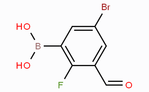 5-溴-2-氟-3-甲酰基苯基硼酸