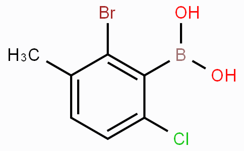 2-Bromo-6-chloro-3-methylphenylboronic acid