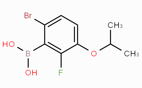 6-Bromo-2-fluoro-3-isopropoxyphenylboronic acid