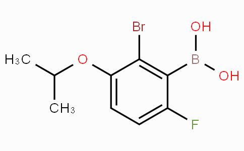 2-Bromo-6-fluoro-3-isopropoxyphenylboronic acid