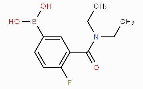 3-(二乙基氨甲酰基)-4-氟苯基硼酸