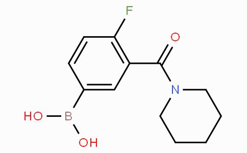 4-Fluoro-3-(piperidine-1-carbonyl)phenylboronic acid