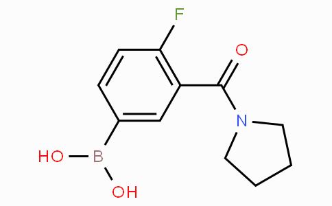 4-氟-3-(吡咯啉-1-羰基)苯基硼酸