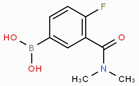 3-(二甲基氨甲酰基)-4-氟苯基硼酸