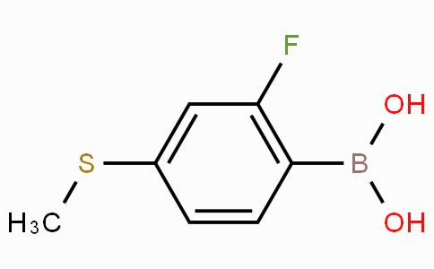 2-Fluoro-4-methylthiophenylboronic acid