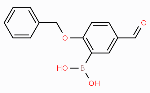 2-Benzyloxy-5-formylphenylboronic acid