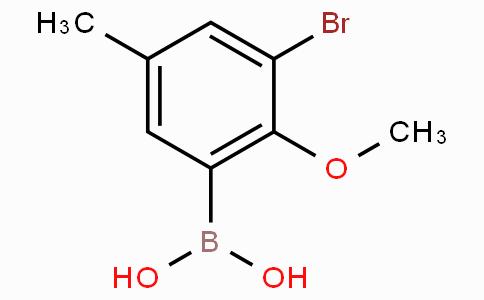 3-Bromo-5-methyl-2-methoxyphenylboronic acid