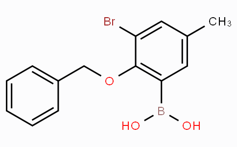 2-Benzyloxy-3-bromo-5-methylphenylboronic acid