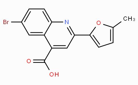 6-Bromo-2-(5-methyl-furan-2-yl)quinoline-4-carboxylic acid
