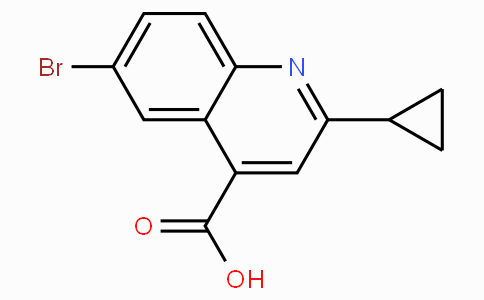 6-Bromo-2-cyclopropylquinoline-4-carboxylic acid