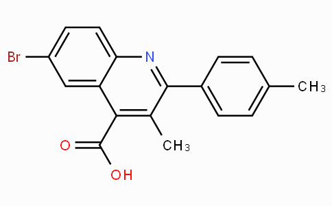6-Bromo-3-methyl-2-4-tolylquinoline-4-carboxylic acid