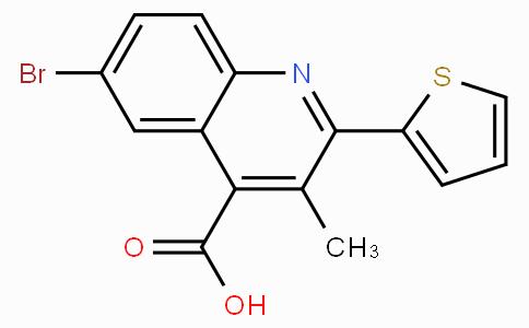 6-Bromo-3-methyl-2-thiophen-2-yl-quinoline-4-carboxylic acid