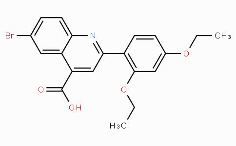 6-Bromo-2-(2,4-diethoxyphenyl)quinoline-4-carboxylic acid